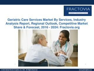 Home Care Services Market to witness USD 480 billion by 2024
