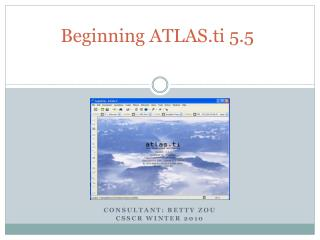 Beginning  ATLAS.ti  5.5
