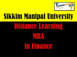 SMU Distance Learning MBA in Finance