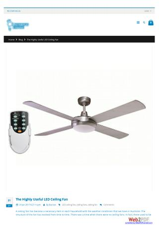 The highly useful LED ceiling fan