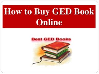 How to Buy GED Book Online