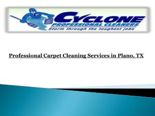 Professional Carpet Cleaning Services in Plano, TX