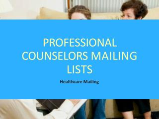 Professional Counselors Mailing Lists