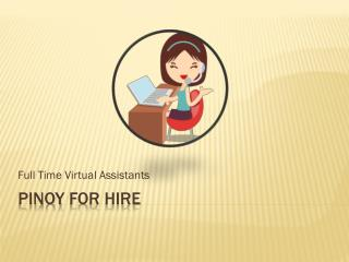 Pinoy For Hire An Affordable SEO Services and Best Solution To Your Web Optimization Problem