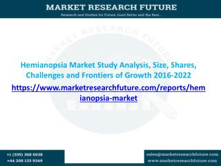 Hemianopsia Market Research Report- Global Forecast to 2022