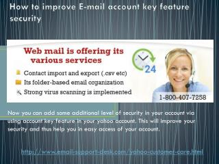 How Yahoo account key feature improve Yahoo mail security