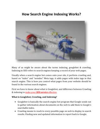 How Search Engine Indexing Works?