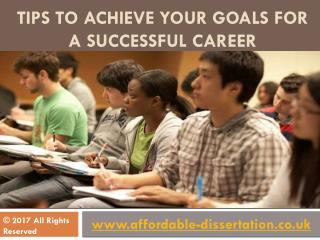 Tips to Achieve Your Goals for a Successful Career