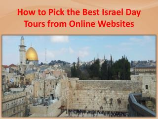 How to Pick the Best Israel Day Tours from Online Websites