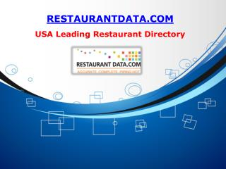 Restaurant List - Restaurant Data