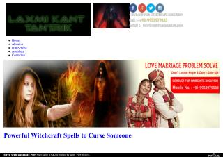 Powerful Witchcraft Spells to Curse Someone | 9953979533