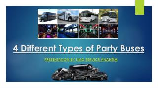 4 Different Types of Party Buses