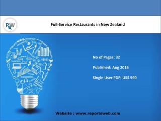 Full-Service Restaurants in New Zealand