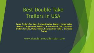 Best Construction Trailer from USA