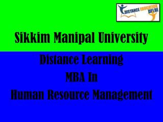 SMU-Distance Learning MBA In Human Resource Management