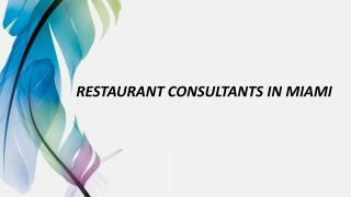 Restaurant Consultants in Miami