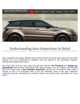 Understanding Auto Inspections in Detail