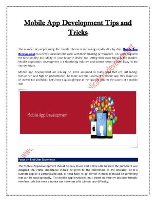 Mobile App Development Tips and Tricks | iMedia Designs