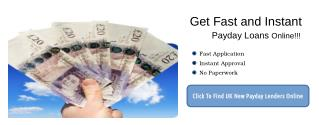 Find New Direct Payday Lenders For Short Term Loans