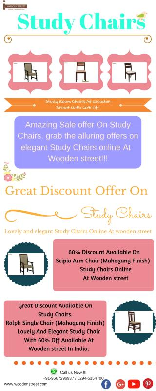 Study Chairs For Home Online: wooden Study Chairs With 60%off