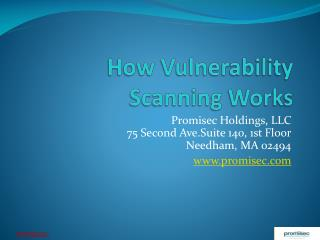 How Vulnerability Scanning Works
