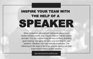 3 reasons to hire an external agency to book quality speakers