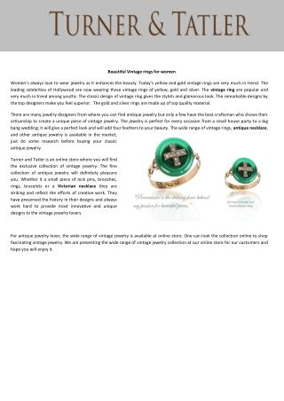 Beautiful Vintage rings for women