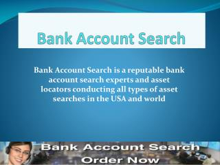 Bank Account Search Review