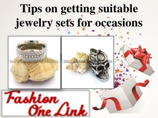 Tips on getting suitable jewelry sets for occasions