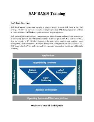 SAP BASIS Online Training | SAP BASIS Certification | SAP ERP Training Singapore