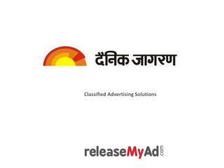 Book Dainik Jagran Classified ads at lowest rates.