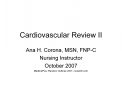 Cardiovascular Review II