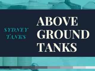 Above Ground water tanks - SYDNEY TANKS