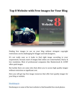 Top 8 Website with Free Images for Your Blog