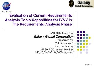 Evaluation of Current Requirements Analysis Tools Capabilities for IV&V in the Requirements Analysis Phase