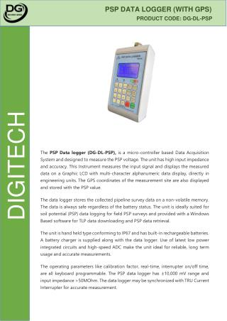 PSP Data Logger - Digitech Roorkee