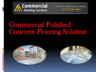 Commercial Polished Concrete Flooring Solution