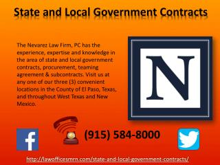 State and Local Government Contracts