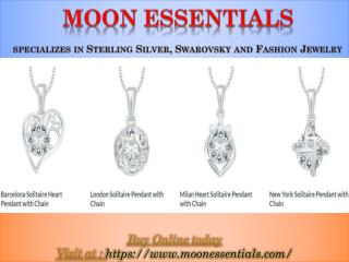 Moon Essentials specializes in Sterling Silver, Swarovsky and Fashion Jewelry