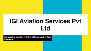 IGI Aviation Services Pvt Ltd