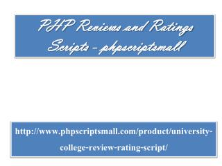 PHP Reviews and Ratings Scripts - phpscriptsmall