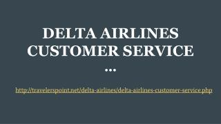 DELTA AIRLINES CUSTOMER SERVICE