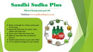 Sandhi Sudha - A very highly successive oil