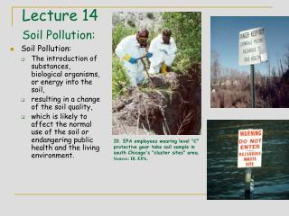 Lecture 14 Soil Pollution: