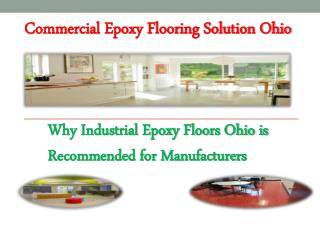 Commercial Epoxy Flooring Solution Ohio