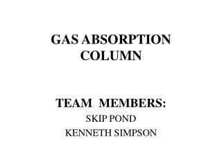 GAS ABSORPTION COLUMN