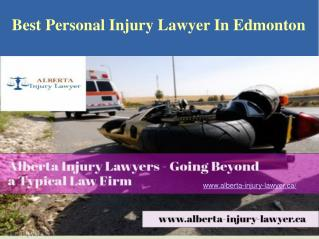 Best Personal Injury Lawyer In Edmonton