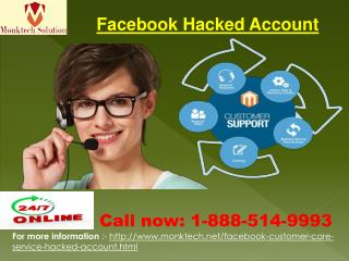 How can I recover my hacked Facebook account? Dial 1-888-514-9993