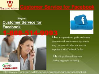What is the Genuine Customer Service for Facebook?Dial 1-888-514-9993