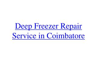 Deep Freezer in Good Condition - Tips